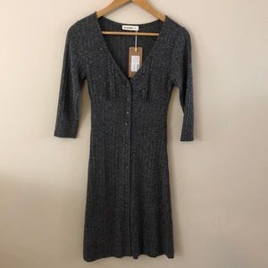 NWT: Small/XS knit button up dress by 24 Colours